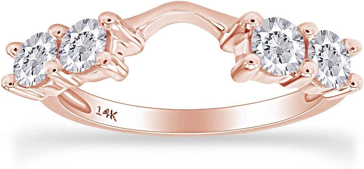 14k White Gold Diamond Solitaire Engagement price Enhancer Ring Latest item 5 c 8