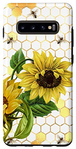 Galaxy S10+ Bumble Bee Sunflower Phone Case