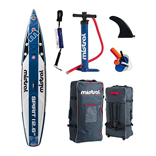 Mistral Spirit Touring-Race 12'6, Superlight Woven-Fusion Layer Technology, Standup Paddel Board Gonfiabile con SUPwave.de Coil-Leash, Stand up Paddle Board iSUP