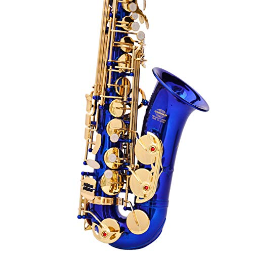 Chyuanhua Saxophon Alto e flach Saxophon anfänger Saxophon blau Geeignet für Studenten und Anfänger (Farbe : As Shown, Size : One Size)