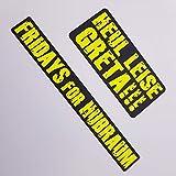 folien-zentrum 2er Set Neon Gelb Schwarz Aufkleber Shocker Hand Auto JDM Tuning OEM Dub Decal...