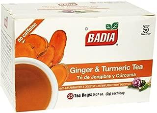 Badia Ginger & Turmeric 25 Tea Bags