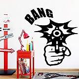 Exquisita pistola pegatinas de arte de pared calcomanía de pared moderna pegatinas de vinilo para niños habitación de bebé decoración del hogar mural pegatinas de pared otro color XL 58x63cm