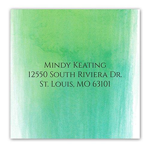 Ombre Watercolor Self-Adhesive, Square Address Labels - Personalized - Minimum Quantity 96