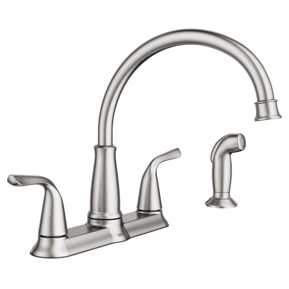 Choice MOEN Brecklyn 2-Handle Standard Kitchen Sprayer Side with Max 72% OFF Faucet