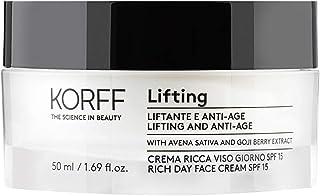 Korff Lifting Crema texture Ricca Viso Giorno, Effetto lifting con Acido Ialuronico e Bacche di Goji per Pelli Normali e S...