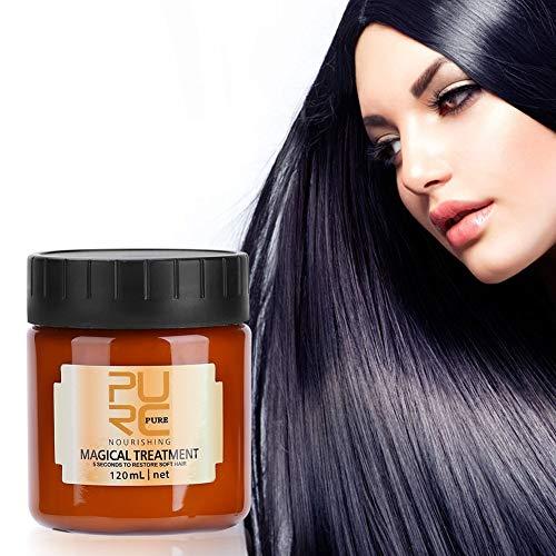 Qkiss 120ml Masque Cheveux Traitement, Masque Capillaire Traitement Magique, Masque Hydratant pour les Cheveux Profonds Répare les Cheveux Secs ou Abîmés et Améliore la Brillance et la Soie