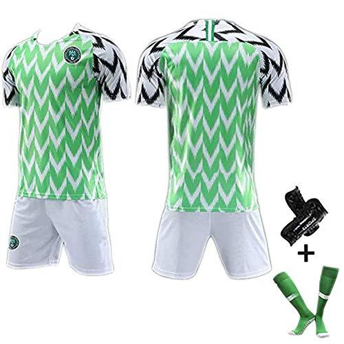 Camiseta de fútbol para Hombre # 7# 10# 18 Camiseta de la Copa Mundial de Nigeria 2018, Ropa Deportiva cómoda fanáticos 1-XXL