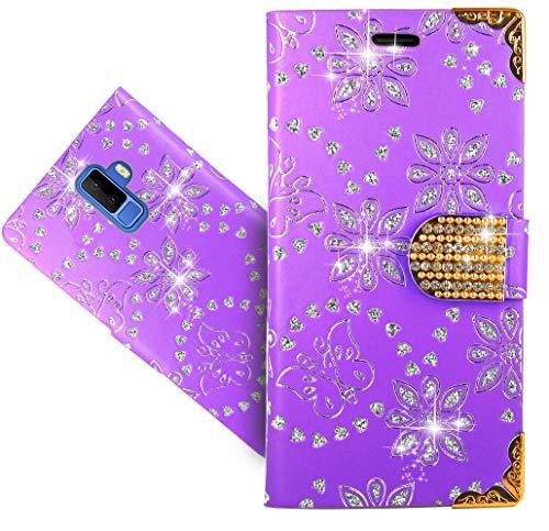 Leagoo M9 Handy Tasche, FoneExpert Wallet Hülle Cover Bling Diamond Hüllen Etui Hülle Ledertasche Lederhülle Schutzhülle Für Leagoo M9
