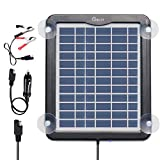 Solar Battery Charger Car, 5W 12V Solar Trickle Charger for Car...
