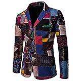 DEELIN Hommes Nouveau Mode Créatif Motif Imprimé Fantaisie Costume Veste Manteau d'affaires Décontracté Blazer