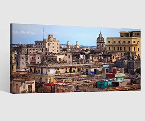 Leinwandbild Leinwand Skyline Havanna Stadt Kuba Kat15 Häuser Bild Bilder Wandbild Holz Leinwandbilder Kunstdruck vom Hersteller 9AB651, Leinwand Größe 1:40x20cm