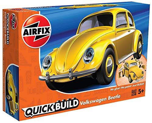 Construir Airfix J6023 rápida VW Escarabajo Juguete Vehículo, Amarillo