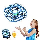 Tomzon Mini Drohne für Kinder A15, Handbetriebener RC Quadrocopter mit Fernbedienung, Levitation UFO, Mini-USB-Handventilator, Fliegender UFO-Ball, Infrarot Flugzeug Hebegeschenke Spielzeug für Kinder -