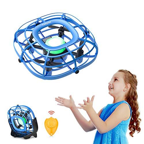 Tomzon Mini Drone para Niños, RC UFO Helicóptero, Fácil de Controlar, Mini Ventilador, Juguete Voladores, Juguete y Regalo para Niños A15 Azul