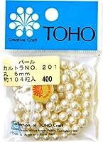 TOHO パールNO.201(カルトラ) 6mm 5Pセット