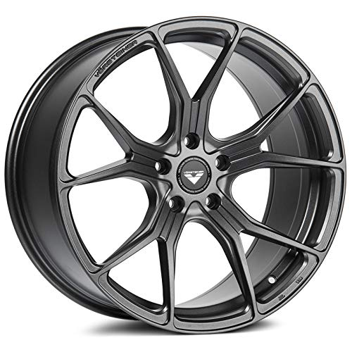 Vorsteiner V-FF 103 Flow Forged Front Wheel Compatible with 10-18 BMW F25 X3/X4 5x120 Bolt Pattern, 20x8.5 (+30mm Offset), Carbon Graphite - 1 PC