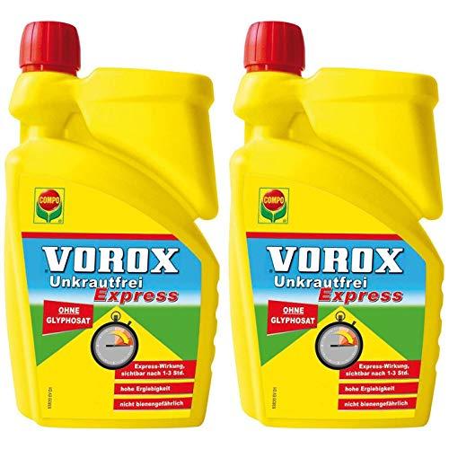 VOROX® Unkrautfrei Express 2L Vorteilspackung (2x1L)
