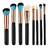 Bonarty 8 Piezas de Pinceles de Maquillaje Set Blush Powder Foundation Sombra de Ojos Herramienta de Pincel de Labios - 8pcs a