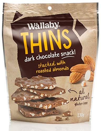 Wallaby Thins Almond Dark Chocolate Snack 130 g