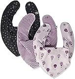 Pippi Baby-Mädchen 3er Pack sehr saugstarke und schöne Lätzchen Halstuch, Rosa (Rose 523), 0-24 Monate