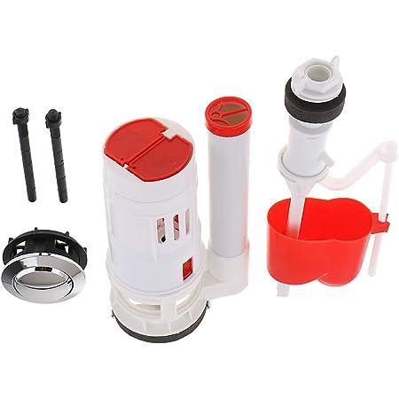 1 Set Cistern Toilet Repair Kits Fill Valve Flush Valve Dual Flush Button New