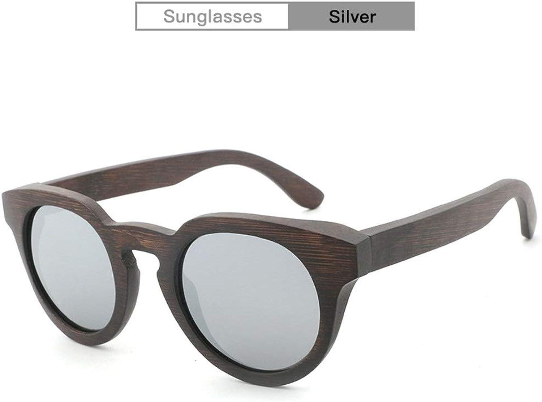 Handmade Wooden Glasses Men UV400 Women Round Frame Retro Polarized Coated Sunglasses for Unisex