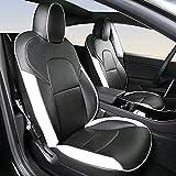 Coprisedili Per Auto per Tesla Model 3 2017 2018 2019 2020, Protezione In Pelle Pu Circondata 3d, Compatibili Con Airbag, Protezione Impermeabile Per Seggiolino Auto Antiscivolo Protetta