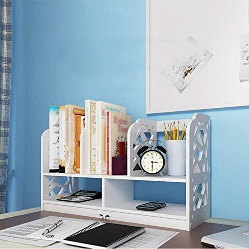 Zfggd Almacenamiento en Rack Respetuoso del Medio Ambiente Simple de la Oficina de Escritorio Estantería Bastidores Simple Estudiante Desk Rack de Almacenamiento Organizador compartida de Escritorio