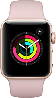 Apple Watch Series 2 (GPS, 38MM) - Gold Aluminum Case with Pink Sand Sport Band (Renewed)