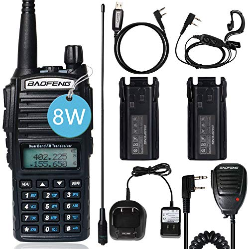 BaoFeng UV-82 BaoFeng Radio Ham Radio 2 Way Radio with Extra 2800mAh Battery Full Kits(1 Pack-Black). Buy it now for 47.99