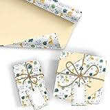 5x Geschenkpapier Motiv Geburtstag Kind - 5 große Bogen je 70 x 100 cm - verpackt als eine Rolle -...