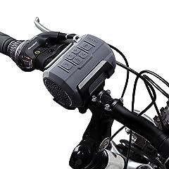 Haut-parleur vélo, Haut-parleurs Bluetooth portables avec 6W pilote, Supporte la carte Micro SD/TF, avec kit de fixation et télécommande pour le vélo et l'extérieur