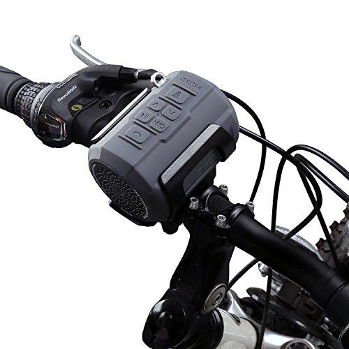 Venstar Fahrrad Lautsprecher, Tragbarer Bluetooth Lautsprecher Spritzwassergeschützt mit 6W Treiber, Unterstützt Micro SD/TF Karte, mit Befestigungskit und Fernbedienung fürs Fahrrad und Outdoor
