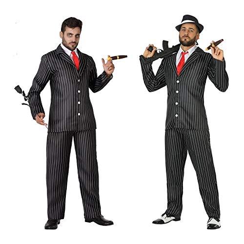 Atosa-54134 Disfraz Gangster, Color Negro, XL (54134)