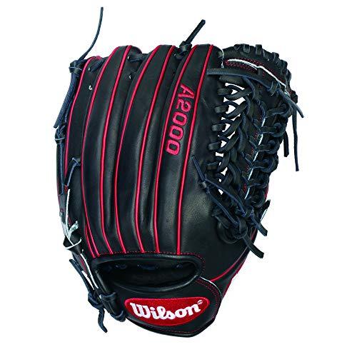 Wilson A2000 Gio Gonzalez Game Model Baseball Glove, Black/Red, Right Hand Thrower