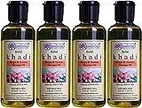 Glamorous Hub Khadi Rishikesh Herbal Mogra & Jasmine Juego combinado de aceite de masaje, paquete de 210 ml x 4 (840 ml) (el embalaje puede variar)