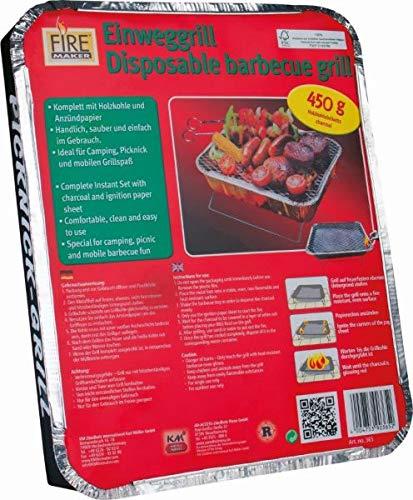 51yebLdLNsL - Km Art. 905 Kombi-Paket Grillen - 3X Einweggrills 365 + 1 Schachteln Zündhölzer 1523