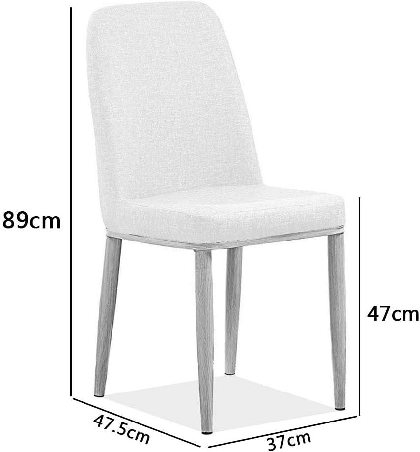 KST Chaise de Salle à Manger en Cuir, Chaise Minimaliste Moderne avec Pieds en métal, sans accoudoirs, Facile à Nettoyer et à Assembler, Hauteur d'assise 47 cm C