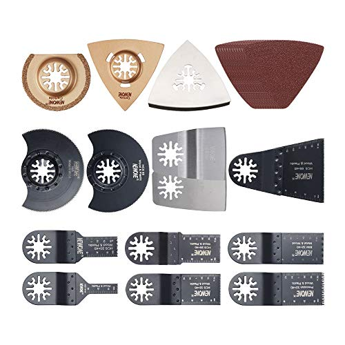 24 pcs Oscillating Accessory Kit Mixed Multitool Saw Blades for Sanding, Grinding,wood and metal Cutting