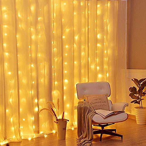 SYQS Multi-Funktions-Eiszapfenlichter Lichterketten LED leuchtet Urlaub dekorative Leuchten, die Hotel Hochzeit Ambiente-Leuchten, Lichterketten Lichterketten Fälle 4 x 0.8m