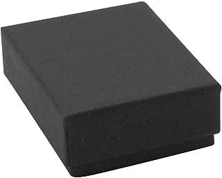 Black Matte Paper Cotton Filled Jewelry Box #11 (Case of 100)