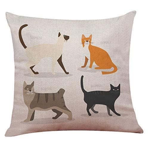 """Les chats chaton tapisserie velours bleu beige tressé Housse de coussin 18/"""" 45 cm"""