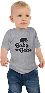 Baby Bear Infant Boys or Girls T Shirts That Matches The Other Family Bears (12 Month) Grey