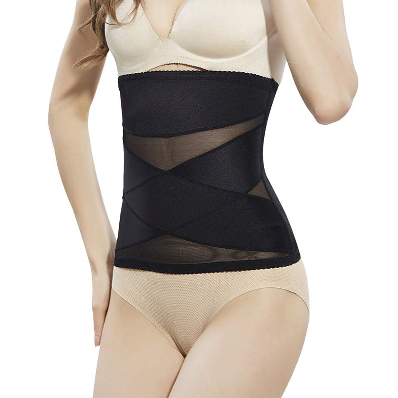 女性ウエストニッパー産後腰トレーナーコルセット用減量脂肪バーナーおなかコントロールスポーツトレーニングボディシェイパー,Black,M