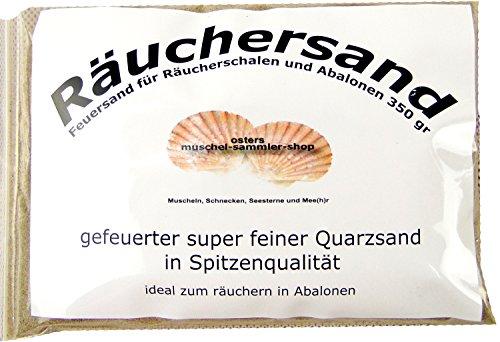 osters muschel-sammler-shop Räucherzubehör - Räuchersand BZW Feuersand in gefeuerter Spitzenqualität // Räucherschale -Abalone mit Einer idealen Größe von 13-16cm (Räucher-Sand)