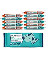 Mum & You 100% Biodegradable Vegan Registered Plastic Free Baby Wet Wipes with Recyclable Packaging, Pack of 12, (672 Wipes) 99.4% Water, 0% Plastic, Hypoallergenic & Dermatologically Tested.