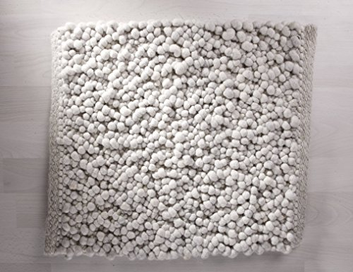 Tisca Originaler Handweb Teppich Olbia COLLINA extrem hochwertig verarbeiteter handgewebter handwebteppich in schwerster qualität (Muster, 1810 hell grau)