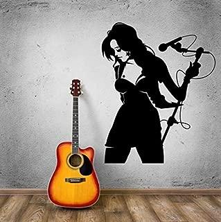 Cantante Femenina Pop Music Wall Sticker Poster Home Bedroom Art Design Decoración 57X70Cm