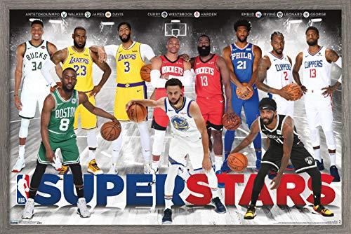 """Trends International NBA League - Superstars 2019 Wall Poster, 22.375"""" x 34"""", Unframed Version"""